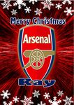 Personalised Arsenal FC Christmas Card